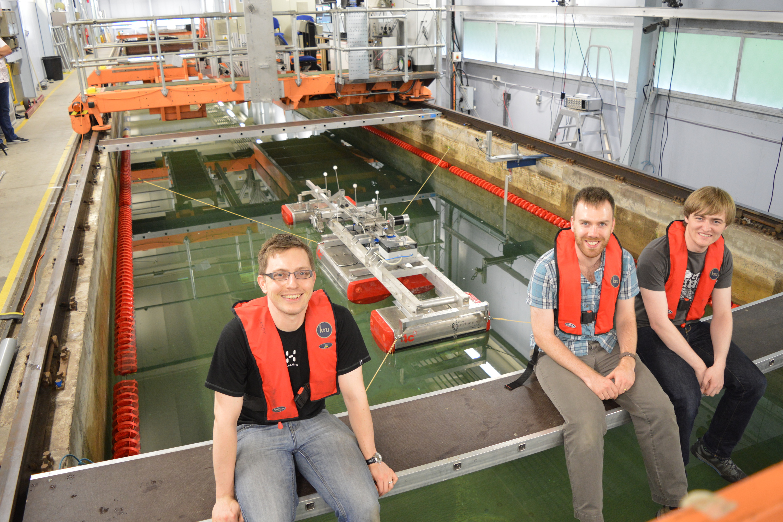 4c Engineering test scale model of Sea Power Platform at Kelvin Hydrodynamic Laboratory