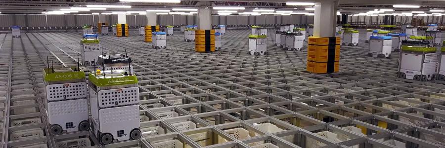 Ocado robot warehouse